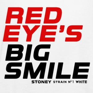 RED EYES BIG SMILE Strain No.1 WHITE - Vrouwen tank top van Bella