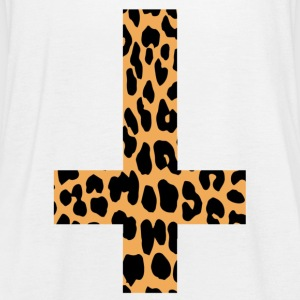 Leopard Inverted Cross - Women's Tank Top by Bella