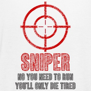 Military / Patriotic: Sniper - No you need to run, - Women's Tank Top by Bella