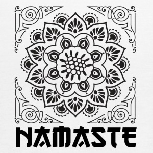 FLOWER BLACK NAMASTE - Women's Tank Top by Bella