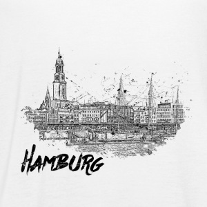 Hamburg city sketch - Women's Tank Top by Bella