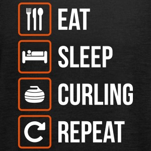 Eat Sleep Curling Gjenta - Singlet for kvinner fra Bella
