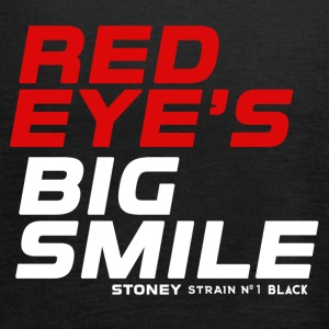 RED EYES BIG SMILE Strain No.1 BLACK - Vrouwen tank top van Bella