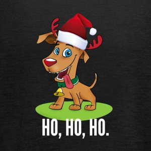 santa dog cute moose Santa comic - Women's Tank Top by Bella