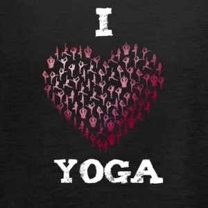 yoga i love sports namaste Heart yogis buddha india - Women's Tank Top by Bella