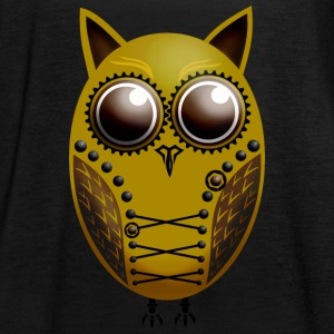 Owl Steampunk Gold Brown - Women's Tank Top by Bella