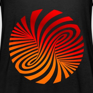 psychedelic circles lsd optical illusion column - Women's Tank Top by Bella