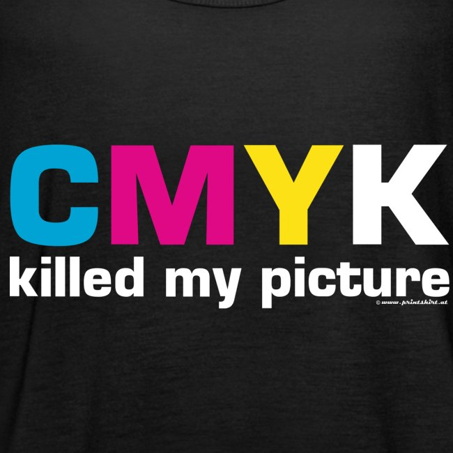 killed my picture dunkle Textilien PRINTSHIR
