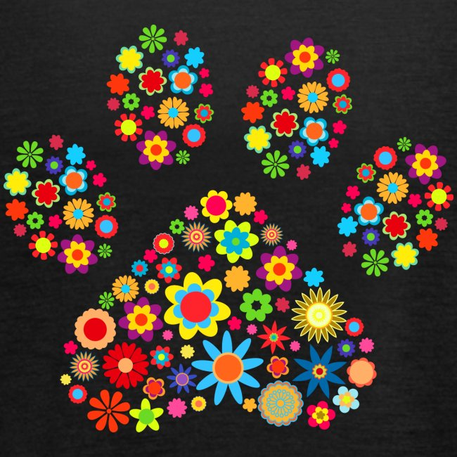 flower dog paw cat - Federleichtes Frauen Tank Top