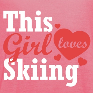 This girl loves Skiing - Women's Tank Top by Bella