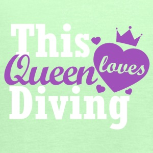 This queen loves diving - Women's Tank Top by Bella