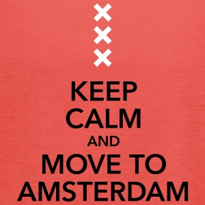 Keep calm move to Amsterdam Holland Cross Cross - Women's Tank Top by Bella