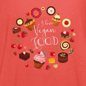Vegan food cake pie muffin cupcake sweet Donat - Women's Tank Top by Bella