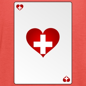 Match Switzerland Swiss Heart ASS Heart - Women's Tank Top by Bella