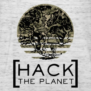 """Hack the planet"" motto T-shirt Camouflage - Women's Tank Top by Bella"