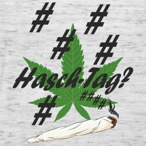 Hash tag with hemp leaf - Women's Tank Top by Bella