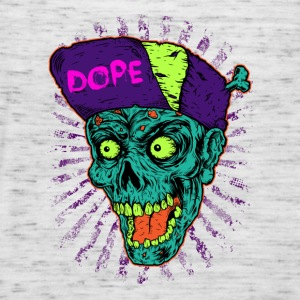 Music in pop style Dope Monster Skull T-Shirt - Women's Tank Top by Bella
