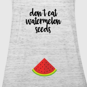 Dont eat watermelon seeds - black - Women's Tank Top by Bella