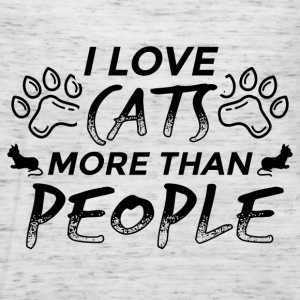 KATZE CAT I LOVE CATS MORE THAN PEOPLE B - Frauen Tank Top von Bella