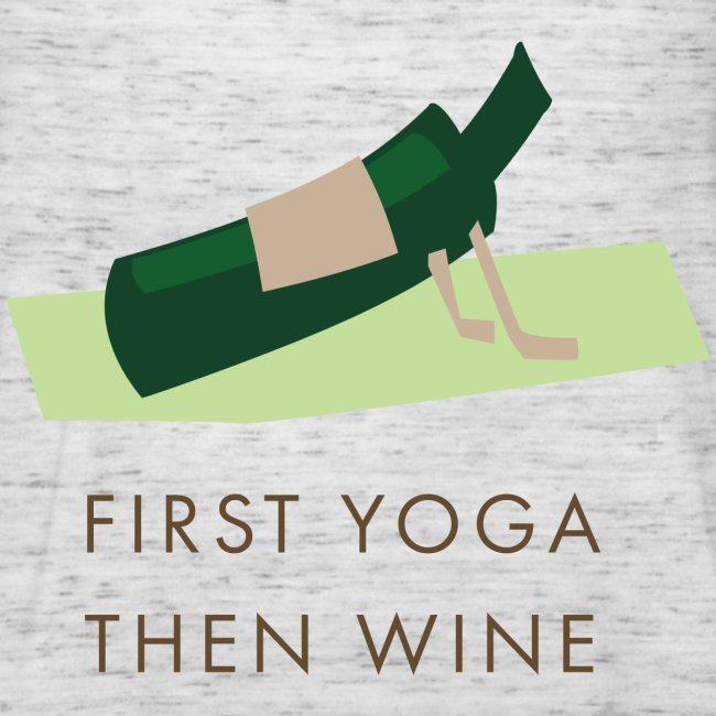 first yoga then wine - yoga wijnmerk