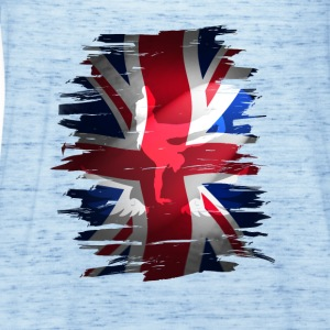 Union Jack britannica Flag England strada pattinatore grunch - Top da donna della marca Bella