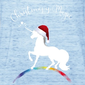 christmas_magic-unicorn Unicorn Kerstmis XMLs gir - Vrouwen tank top van Bella