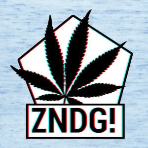 Tenning! ZNDG! cannabis blad - Singlet for kvinner fra Bella
