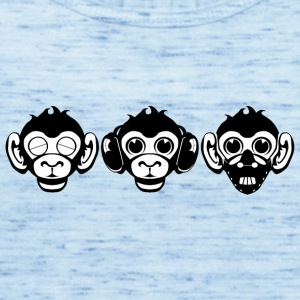 Tre Wise Monkeys - Top da donna della marca Bella