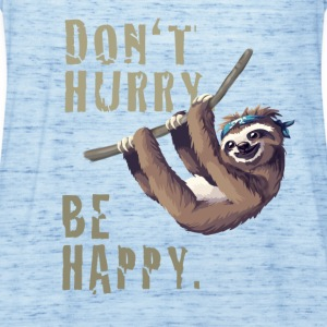 sloth sloth chilling sleep Slow happy humor fun - Women's Tank Top by Bella