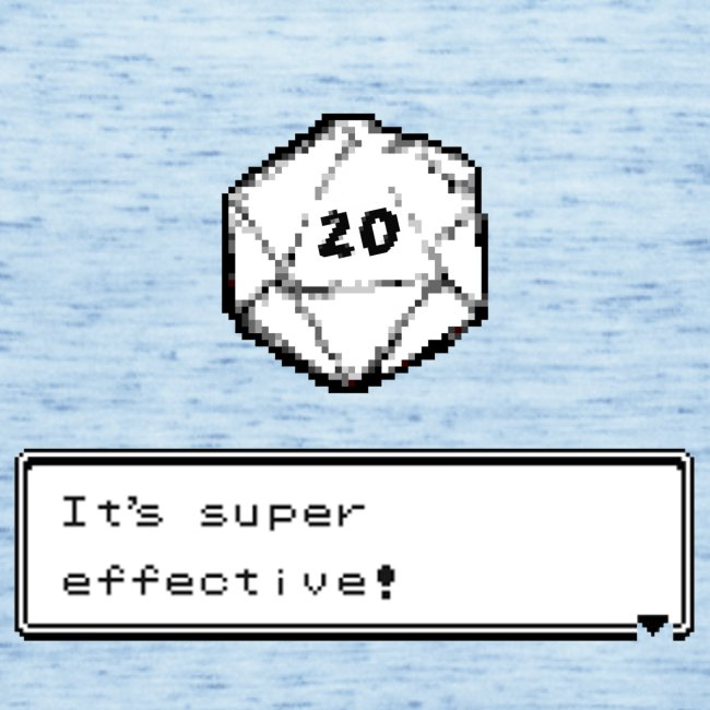 Kriittinen osuma d20 Super Effective! - D & D Dnd