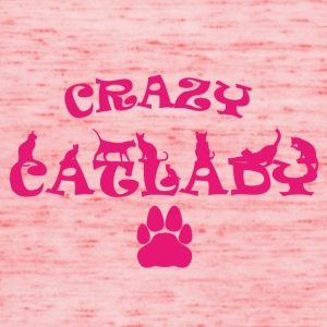 CRAZY PINK Catlady - Women's Tank Top by Bella