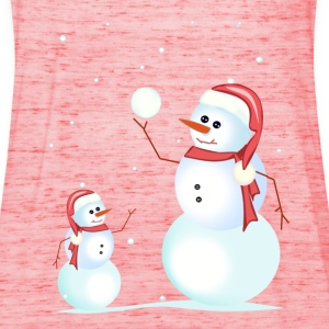 Santa, snowman, playing his son - Women's Tank Top by Bella