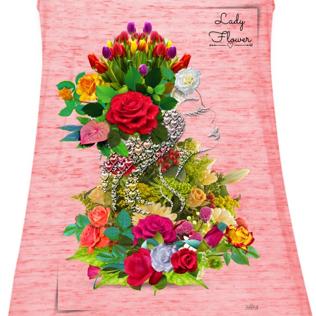 Lady flower -by- T-shirt chic et choc