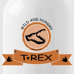 T REX WILD AND HUNGRY - Trinkflasche