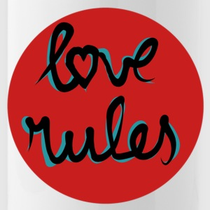 Love rules - Water Bottle