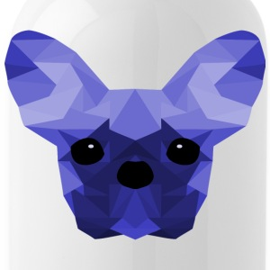 French Bulldog blu Low Poly design - Borraccia