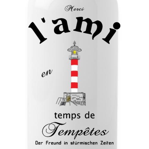 Freund auf Französisch/ Deutsch - Trinkflasche