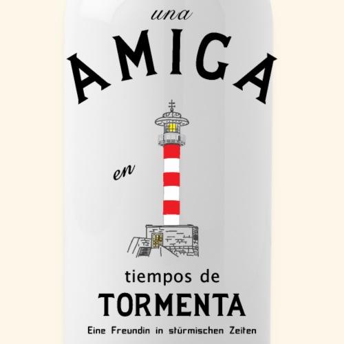 Freundin auf Spanisch/ Deutsch - Trinkflasche
