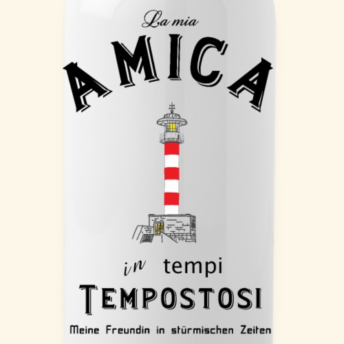 Meine Freundin auf Italienisch/ Deutsch - Trinkflasche