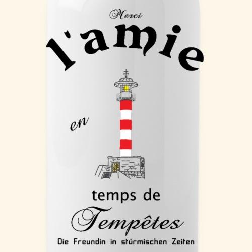 Freundin auf Französisch/ Deutsch - Trinkflasche