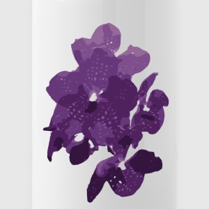 Orchidee dunkel lila - Trinkflasche