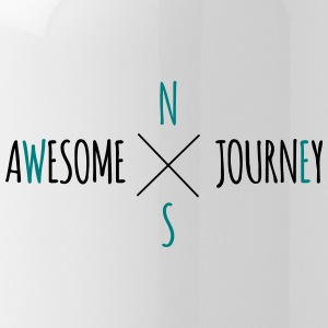 Awesome Journey - Travel (roadtrip) t-shirt - Water Bottle