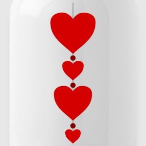 4 hearts Valentine couples Truelove loving couple - Water Bottle