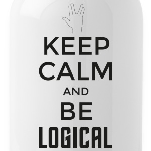 Keep Calm and be logical (dunkel) - Trinkflasche