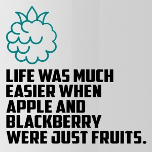 Apples and blueberries funny sayings - Water Bottle