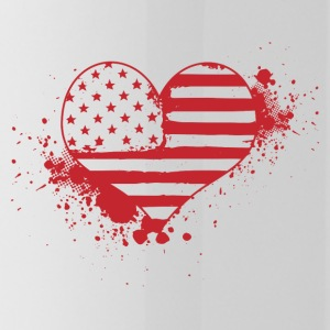 USA Heart! USA! Patriot! America! - Water Bottle