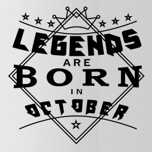 Legends October born birthday gift birth - Water Bottle