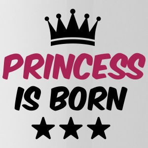 Princess is Born - Baby T-Shirt - Prinzessin - Trinkflasche