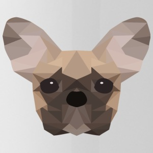 French Bulldog Low Poly - Drinkfles
