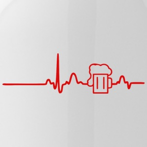 ECG HEART LINE BEER red - Water Bottle